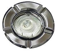 Точечный встраиваемый светильник Feron 098T MR16 титан хром