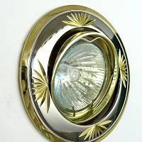 Точечный встраиваемый светильник Feron DL246 MR16 чёрный металлик золото