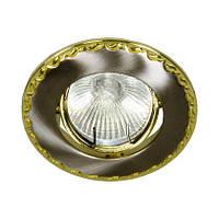 Точечный встраиваемый светильник Feron 125T MR16 титан золото
