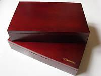 Деревянный бокс L на 6-7 планшетов для монет, фото 1