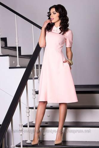 Женское стильное платье креп