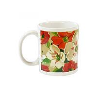 Чашка 330мл декор Цветы ОС21-206-083 Оселя