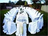 Прокат праздничных фуршетных юбок, чехлов на стулья, салфетки, ленты, ткани.