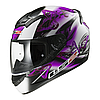 Мотошлем LS2 FF352 ROOKIE FLUTTER White-Purple, XXS
