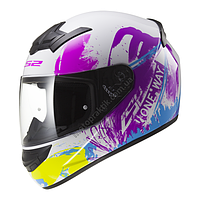 Мотошлем LS2 FF352 ROOKIE ONE White-Fluo Iris, XS