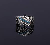 Серебярное кольцо головоломка с бирюзой от Wickerring