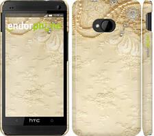 "Чехол на HTC One M7 Кружевной орнамент ""2160c-36"""