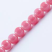 Бусины Стеклянные Имитация Коралла, Форма: Круглая, Цвет: Розовый AD35, Диаметр: 6мм, Отверстие 1мм, около 135шт/нить, (УТ0027378)