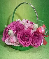 """Композиция букет цветы из конфет""""Имениннице"""""""
