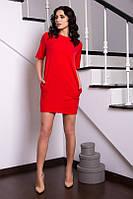 Женское строгое платье креп