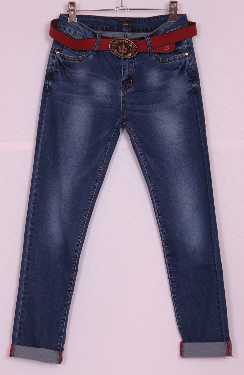 """Женские приуженные джинсы """"New Sky"""" большого размера !!!"""
