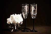 Свадебные бокалы, лазерная гравировка | модель 11