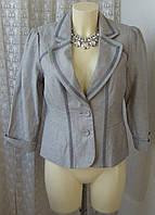 Пиджак женский жакет элегантный хлопок лен бренд Orsay р.44 5400