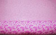 Крафт-бумага подарочная Бабочка Розовая 10 м/рулон