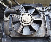 Вентилятор охлаждения радиатора в сборе инжекторный Таврия Славута ЗАЗ 1102 1103