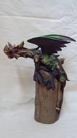 Статуэтка дракон крылатый на дереве высота 35 см