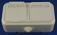 Блок выключатель одинарный + розетка с заземлением и крышкой