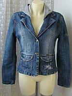 Куртка женская джинсовая жакет модный Mia&Ride р.46 5404а