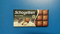 Шоколад TRUMPF Schogetten чорно белый с печеньем 100г