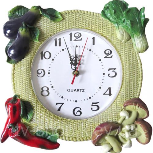 Часы настенные Овощи в кубе (лепка )