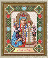 """Набор алмазной вышивки икона """"Богородица Неувядаемый цвет"""""""