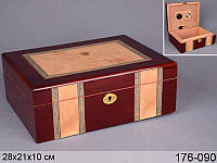 Шкатулка-хьюмидор для сигар,20Х21Х10 см Lefard  176-090