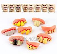 Зубы вставные смешные, челюсть