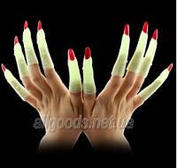 Пальцы с ногтями флуоресцентные 10шт.