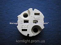 Патрон G4/5,3/6,35 Vossloh-Schwabe 109547   самозажимной контакт,без провода (Германия), фото 1