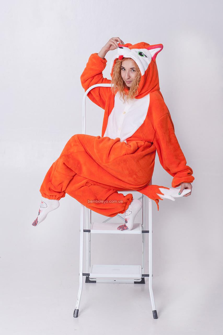 Костюм - пижама Кигуруми Лиса Алиса. Для взрослых и детей 2d184f527e4e9