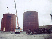 Монтаж резервуаров под аммиачную воду Группа: Оборудование резервуарноеМонтаж резервуаров под аммиачную воду