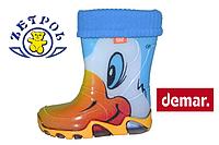 Детские резиновые сапожки с утеплителем