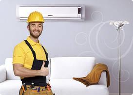 Установка настенных кондиционеров 30000-36000 BTU 9-11,0 кВт
