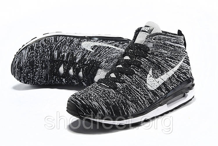 Мужские кроссовки Nike Air Max 90 Flyknit Chukka SP Black/White