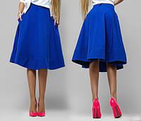 """Стильная женская миди-юбка """"Emily"""" с карманами (2 цвета)"""