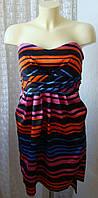 Платье женское легкое летнее яркое нарядное атласное бренд Hot Options р.48 5421