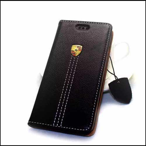 Кожаный чехол флип Porsche для iPhone 6 6S