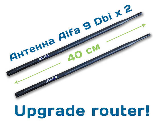 2x Alfa ARS-N19  Wi-Fi антенна 9dbi router pack, фото 2