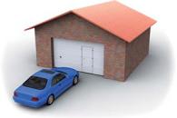 Врезная калитка для гаражных ворот