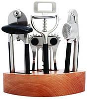 Барсетка набор 6 шт  Empire набор для бара 5 предметов + деревянная стойка