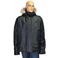 Куртка мужская кожаная пуховая