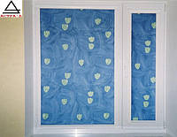 Окно м/п OPENTECK (1300х1400) с подоконником, отливом и москитной сеткой