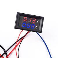 Встраеваемый вольтметр амперметр (0-100 В) (10 А)