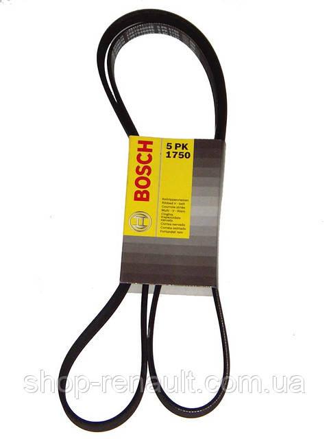Ремень генератора ГУР+кондиционер 5PK1750 Bosch 1987946045  8200833541