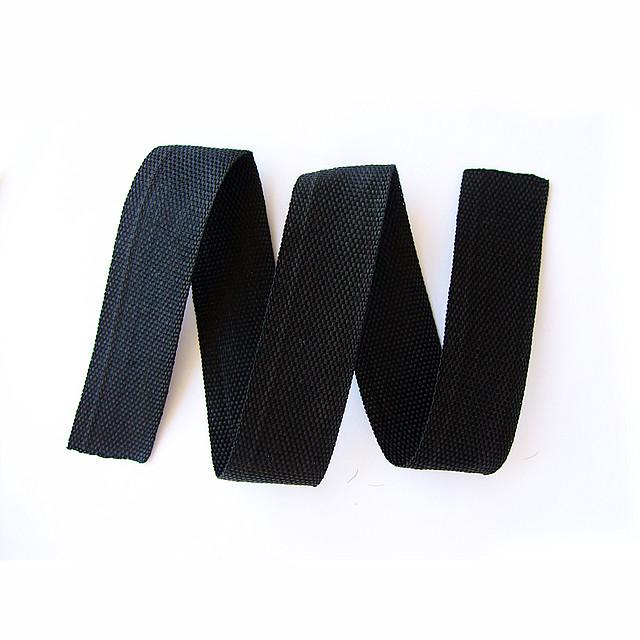 Обтачка сумочная 23мм чёрная (91метр)