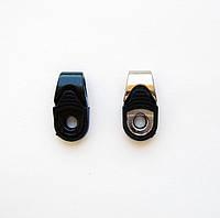 Петля обувная комбинированная метал+пластик  чёрная крашеная и никель