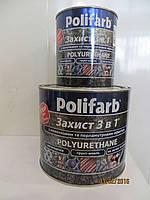 Эмаль - грунт по ржавчине 3 в 1 Полифарб 2,2 кг