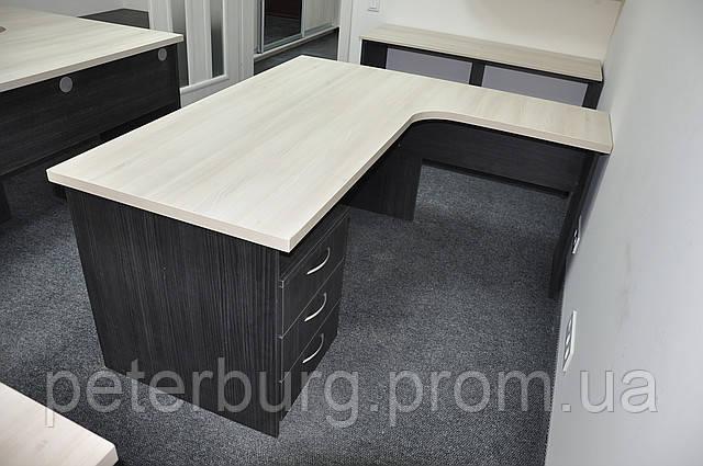 стол письменный угловой с мобильной тумбой на 3 ящика продажа цена