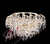 Хрустальное бра на 2 лампочки со светодиодной подсветкой