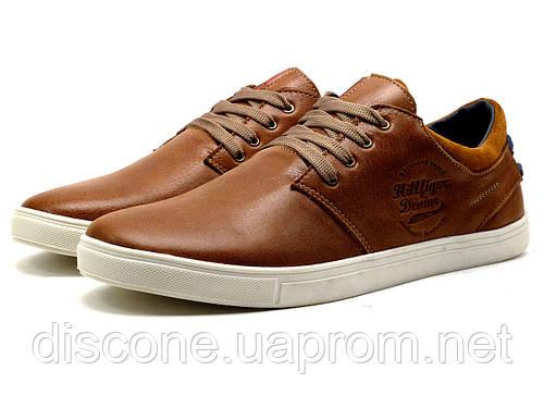 Туфли спортивные H.Denim, мужские, коричневые